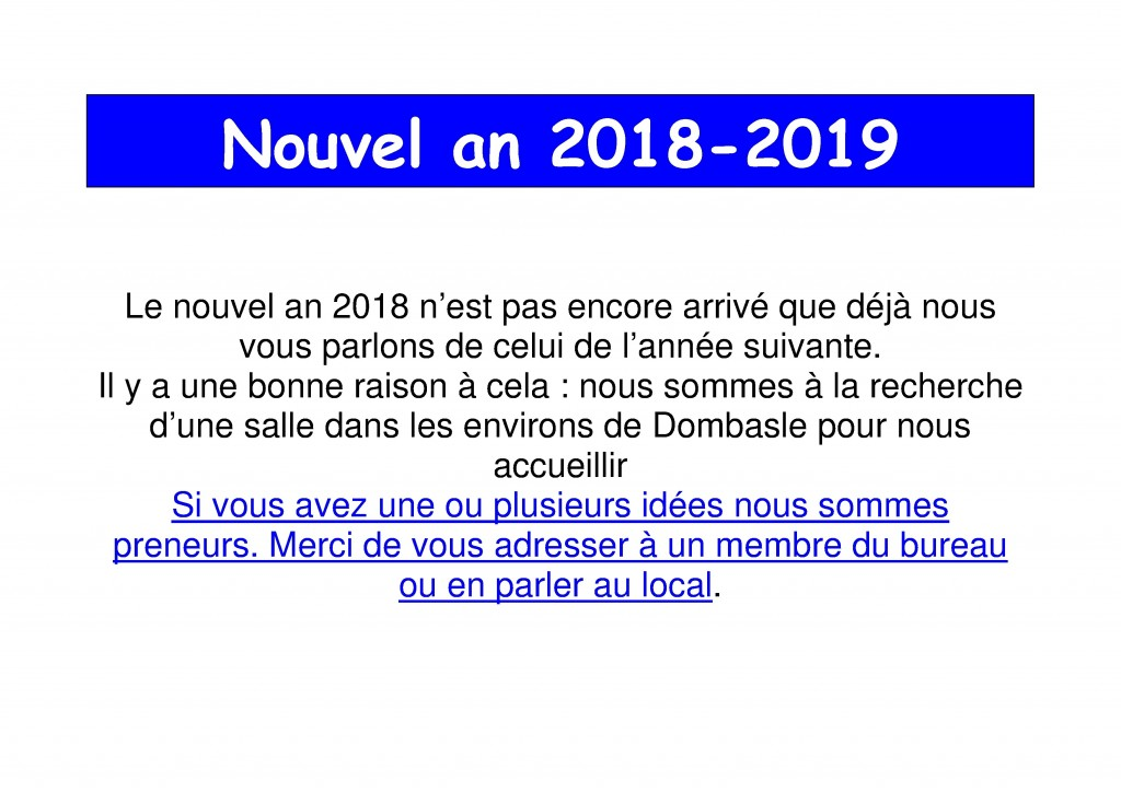 Nouvel an BB 2018